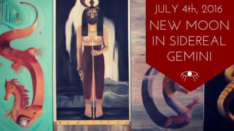 New Moon in Sidereal Gemini July 4, 2016