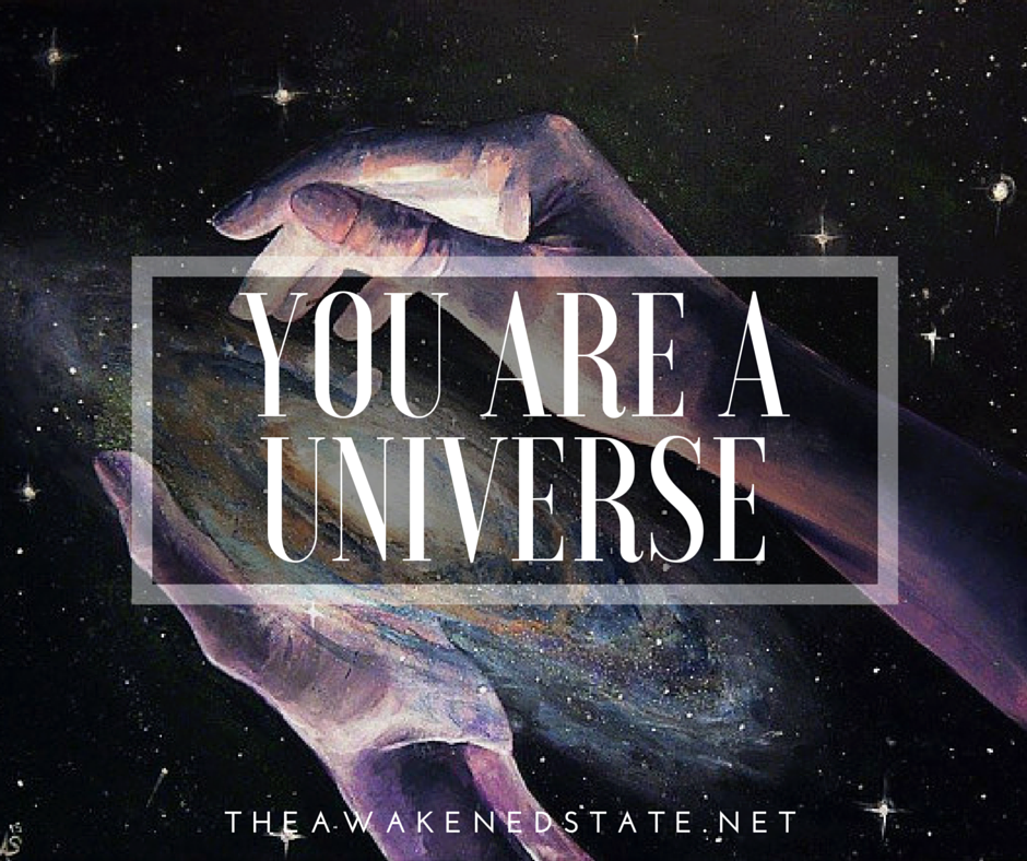 you are a universe because the universe is inside of you I The Awakened State