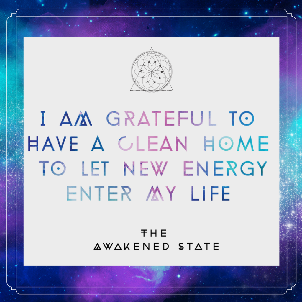Gratitude Practice: I am grateful for a clean home to let new energy into my life!
